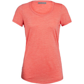 Icebreaker Sphere Scoop T-shirt manches courtes Col ras-du-cou bas Femme, fire